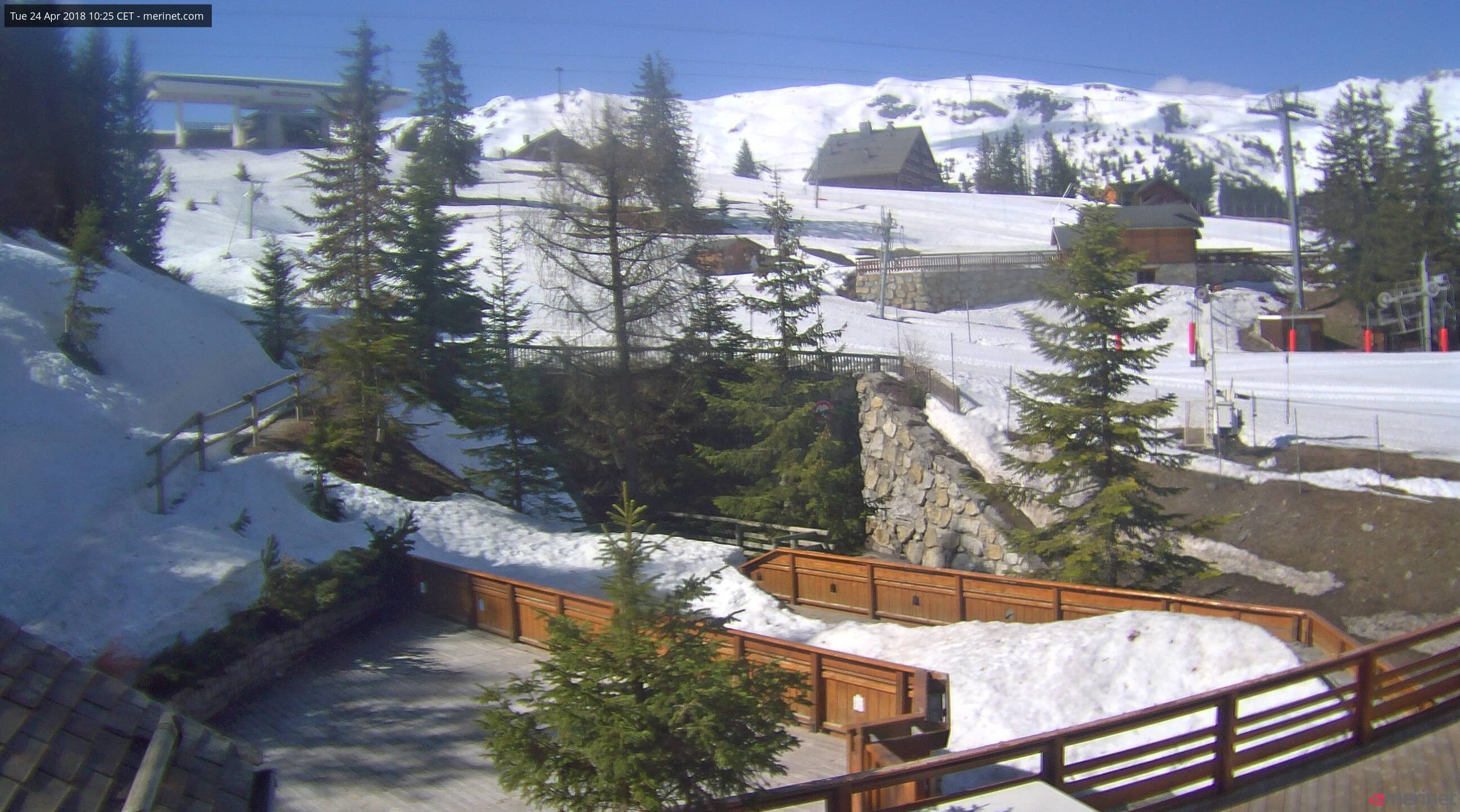 Meribel, Webcam hotel le Yéti